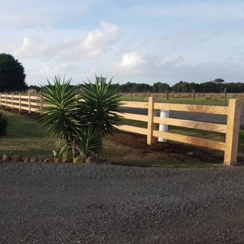 Post & Rail Fencing - Timber Post & Rail Fence | Strukta Fencing